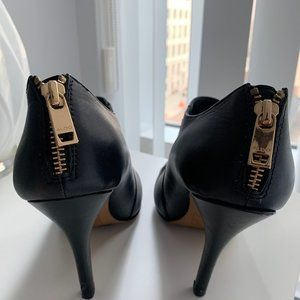 Aldo Shoes - ALDO heeled leather booties (black)
